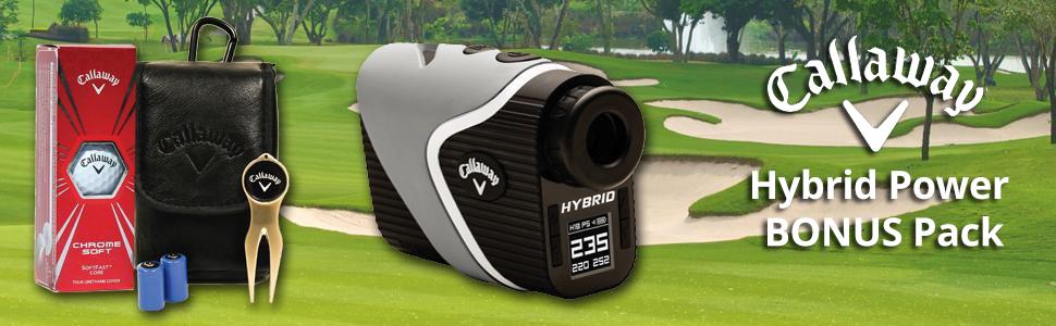 Callaway Golf Hybrid GPS Laser Rangefinder Bonus Power Pack
