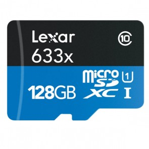 128GB Lexar 633X High Performance MicroSDXC
