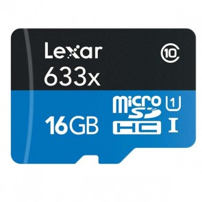 16GB Lexar 633X High Performance MicroSDHC
