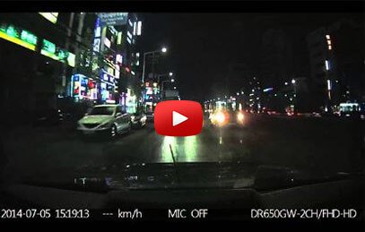 Blackvue DR650 Rear Camera Night Footage