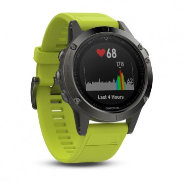 Garmin fenix 5 ® Slate Grey With Amp Yellow Wristband