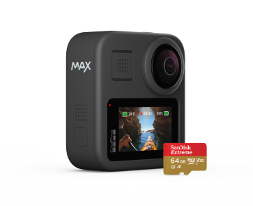 GOPRO MAX 360 ACTION CAMERA + 64GB Sandisk extreme MicroSD card