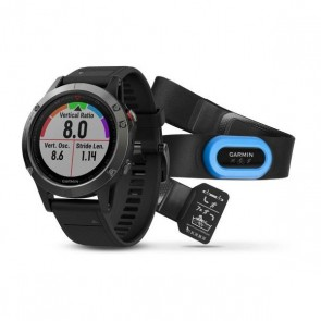 Garmin fenix 5 ® Slate Gray with Black Band Performer Bundle