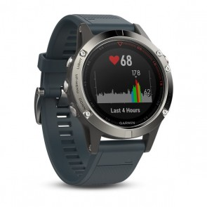 Garmin fenix 5 ® Slate with Granite Blue Wristband