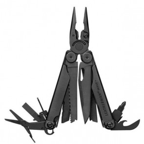 Leatherman Wave Plus Black Stainless Steel Multi tool with Button Sheath - Black